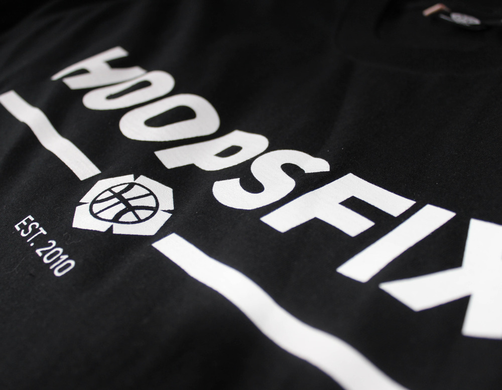 Hoopsfix T-Shirt Black and White Print